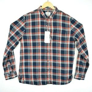 Denim & Flower Slim Fit Plaid Flannel L/S Shirt